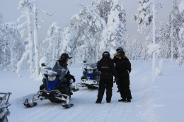 Snowmobile safari to Reindeer Farm and Husky Park (Min. 2 people)