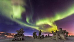 Search of the Northern Lights by car