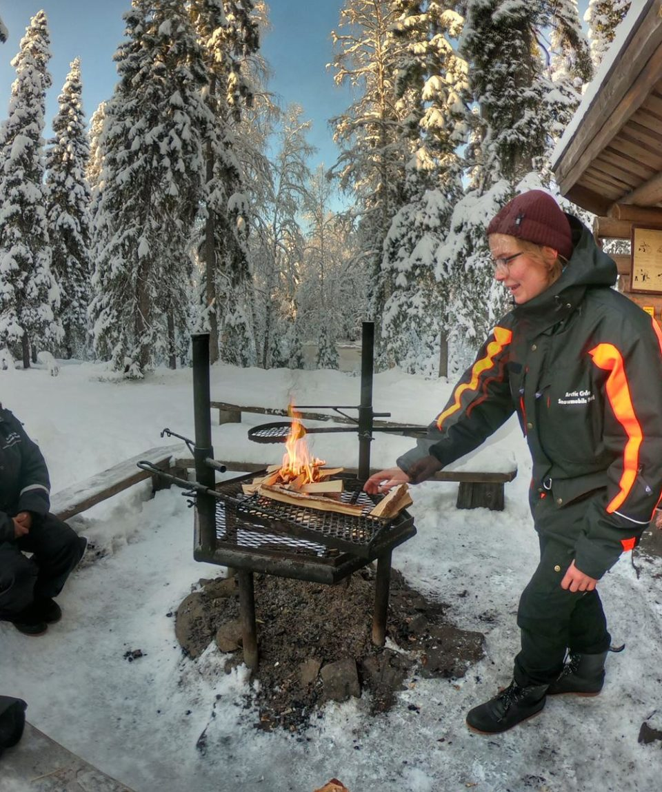Barbecuing in Arctic Circle